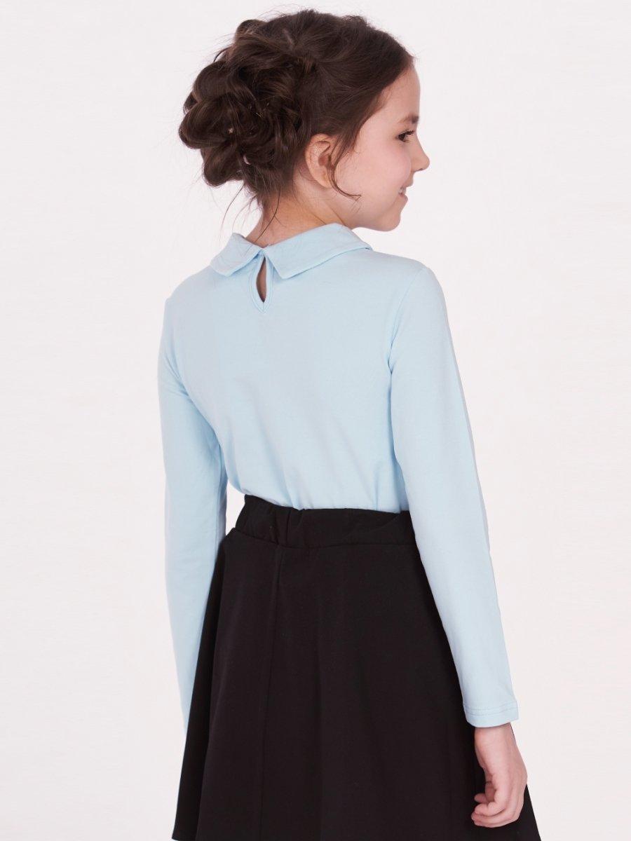 Блузка для девочки, цвет: голубой