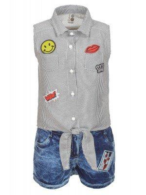 Комплект для девочки: топ и джинсовые шорты