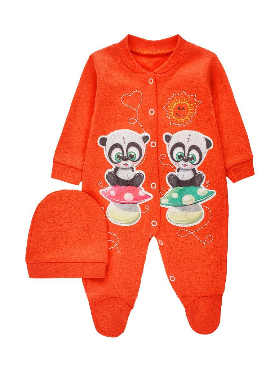 Комбинезон для девочки, цвет: оранжевый