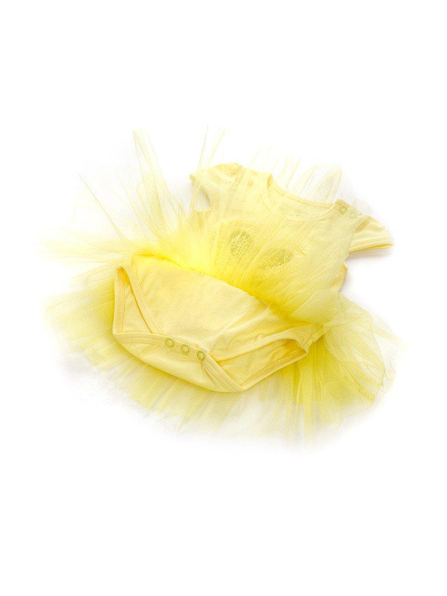 Боди с юбочкой из сетки для девочки отделка пайетки