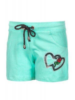 Шорты для девочки отделка вышивка и пайетки