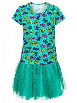Комплект для девочки: футболка и юбка из сетки, на подкладке
