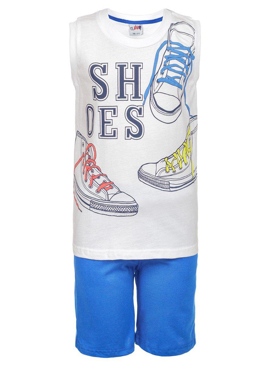 Комплект для мальчика: майка и шорты, цвет: синий