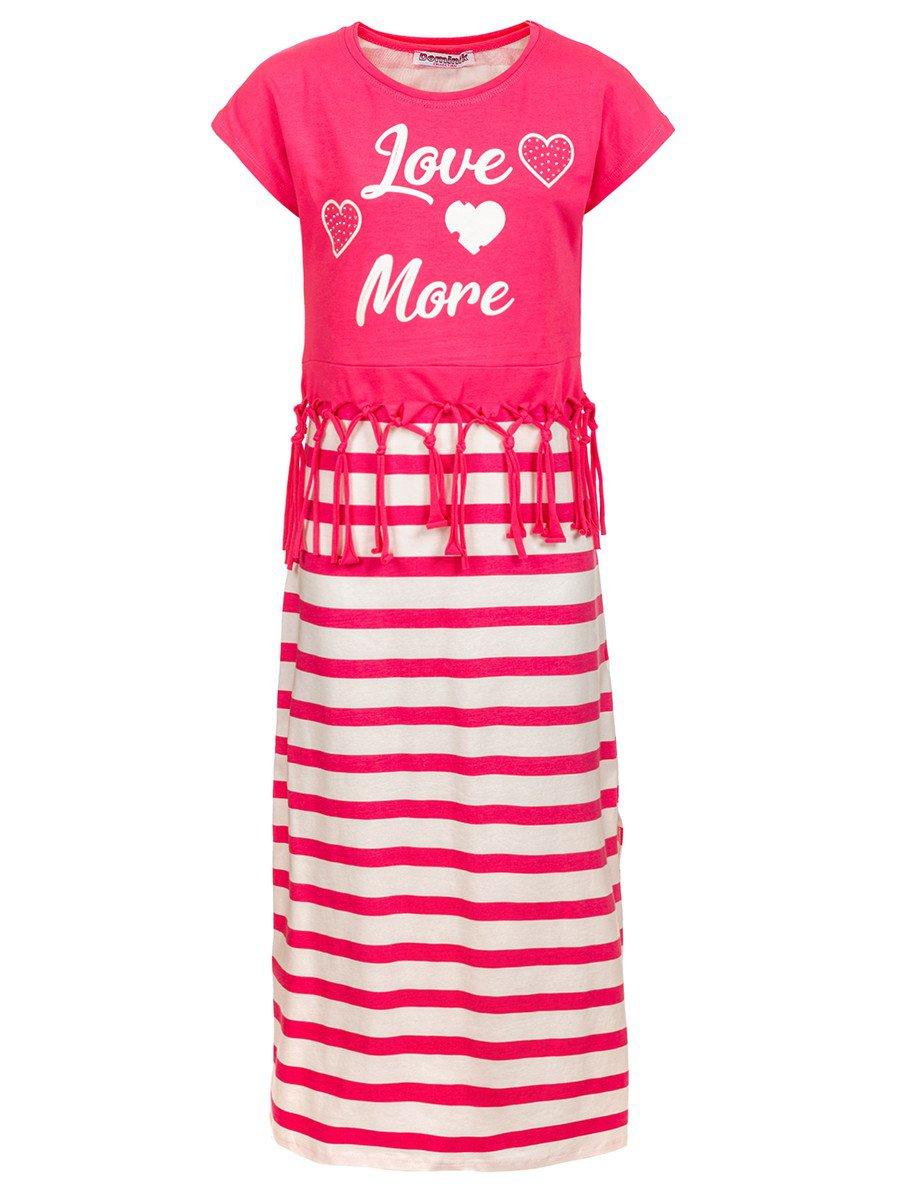Комплект для девочки: сарафан и топ, цвет: розовый