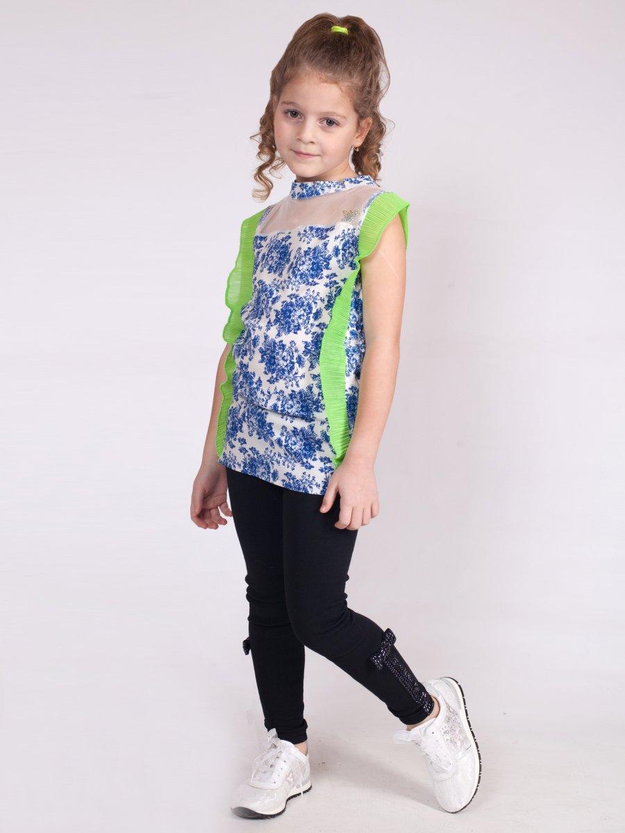 Блузка  для девочки, цвет: салатовый