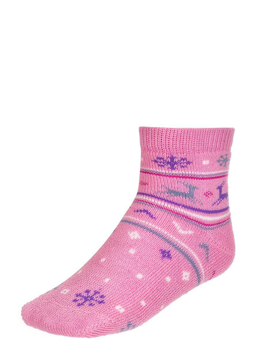 Носки для детские плюшевые, цвет: светло-розовый