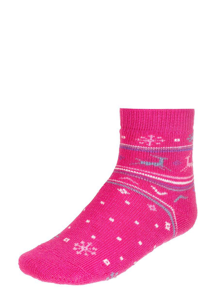 Носки для детские плюшевые, цвет: розовый