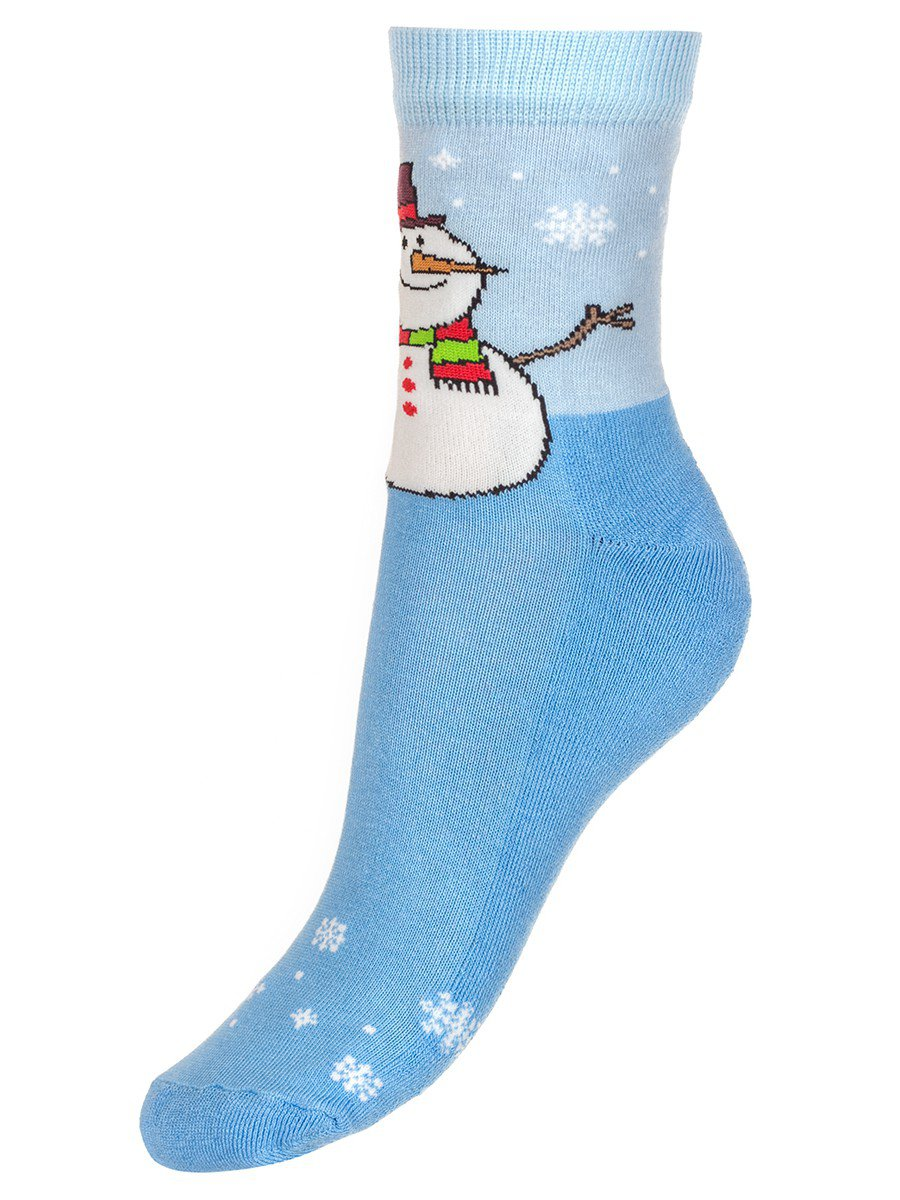 Детские зимние носки с двойным бортом плюшевым следом.
