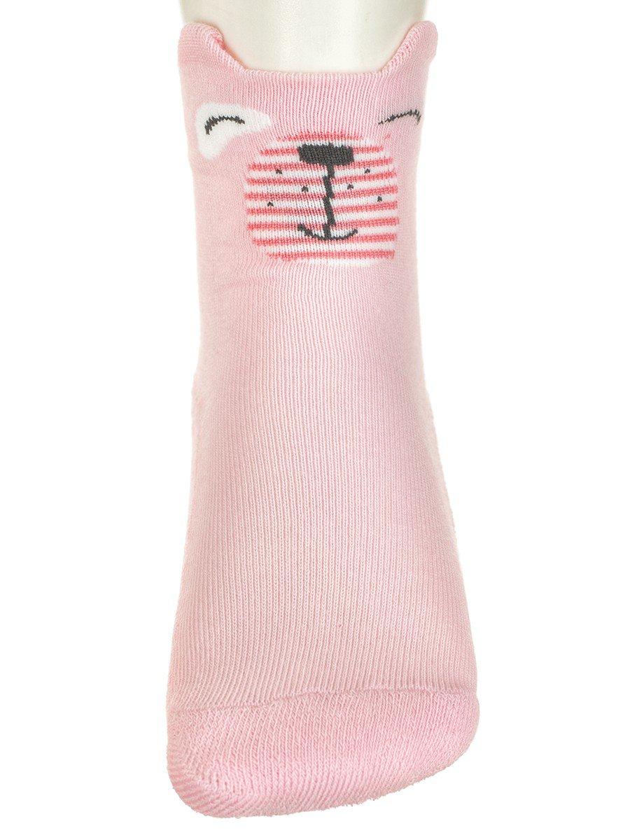 Носки для девочки плюшевый след с элементами 3d рисунка
