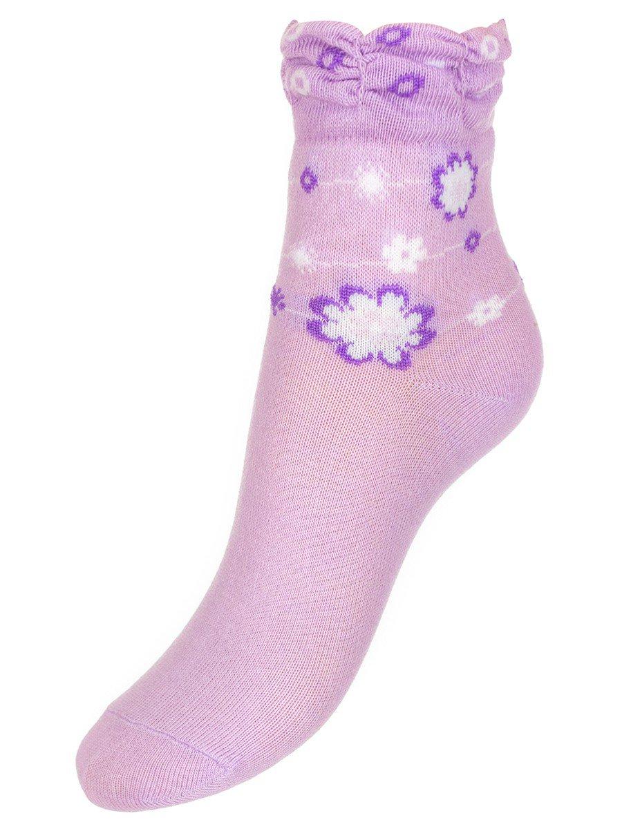 Носки для девочки с мелким рисунком