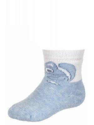 Зимние меланжевые носочки, плюш внутри