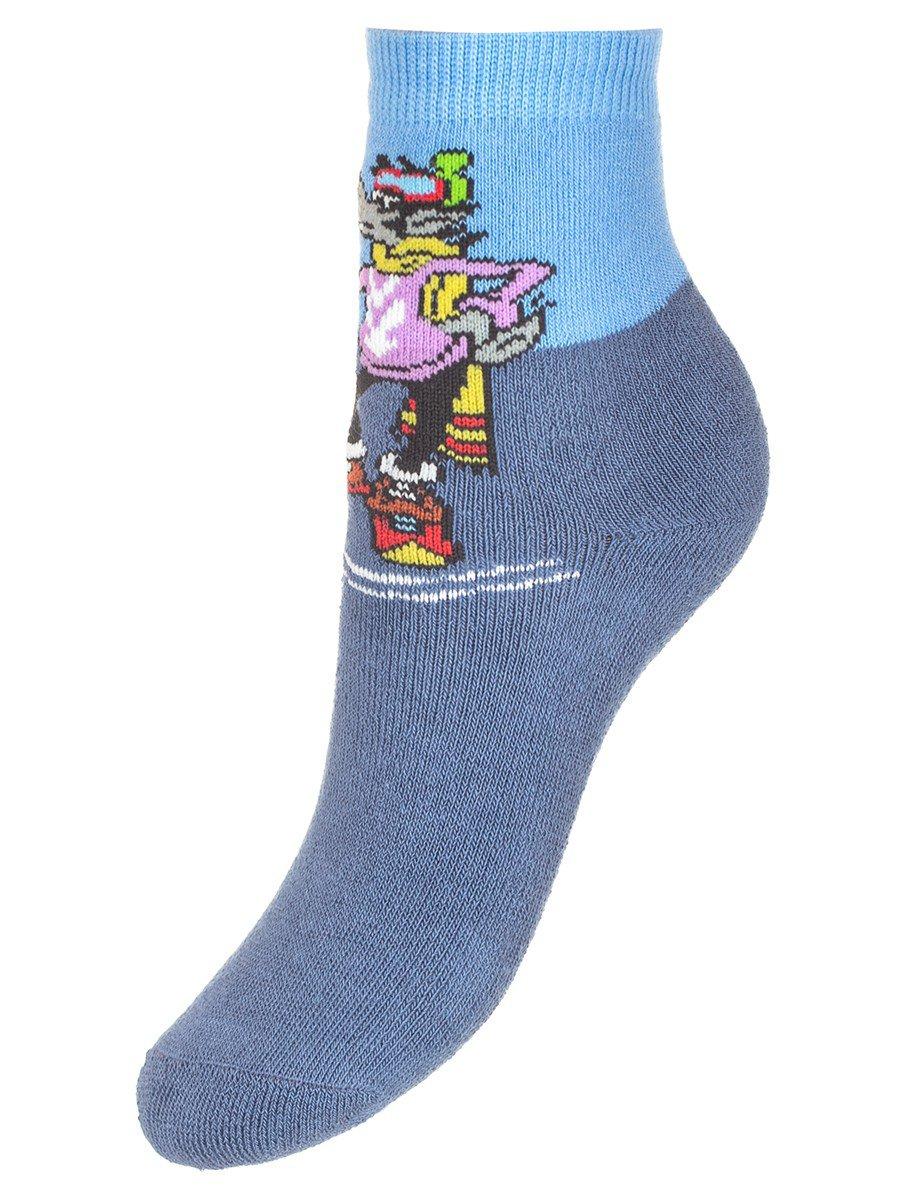 Зимние плюшевые носки из коллекции «Ну, погоди!», цвет: деним