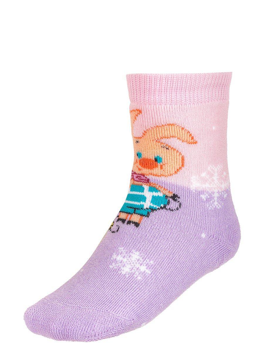 Зимние плюшевые носки с персонажами из мультфильма «Винни-пух», цвет: сиреневый
