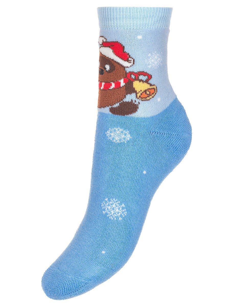 Зимние плюшевые носки с персонажами из мультфильма «Винни-пух», цвет: голубой