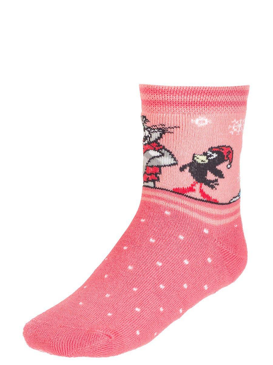 Зимние плюшевые носки с персонажами из мультфильма «Простоквашино», цвет: персиковый