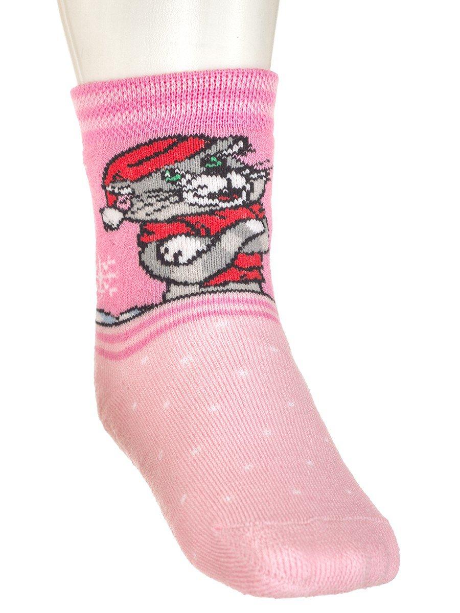 Зимние плюшевые носки с персонажами из мультфильма «Простоквашино», цвет: светло-розовый