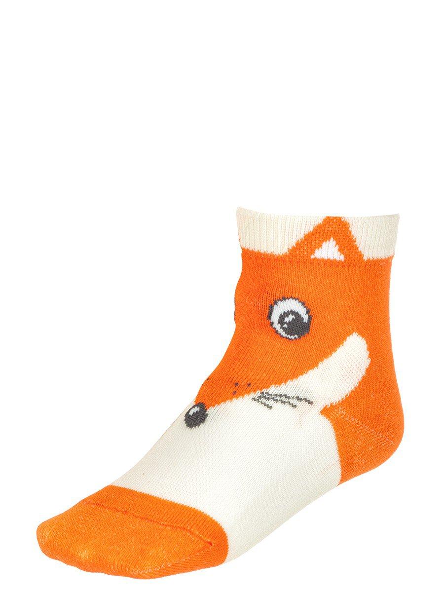 Демисезонные носки, с ярким крупным рисунком в верхней части изделия, цвет: молочный