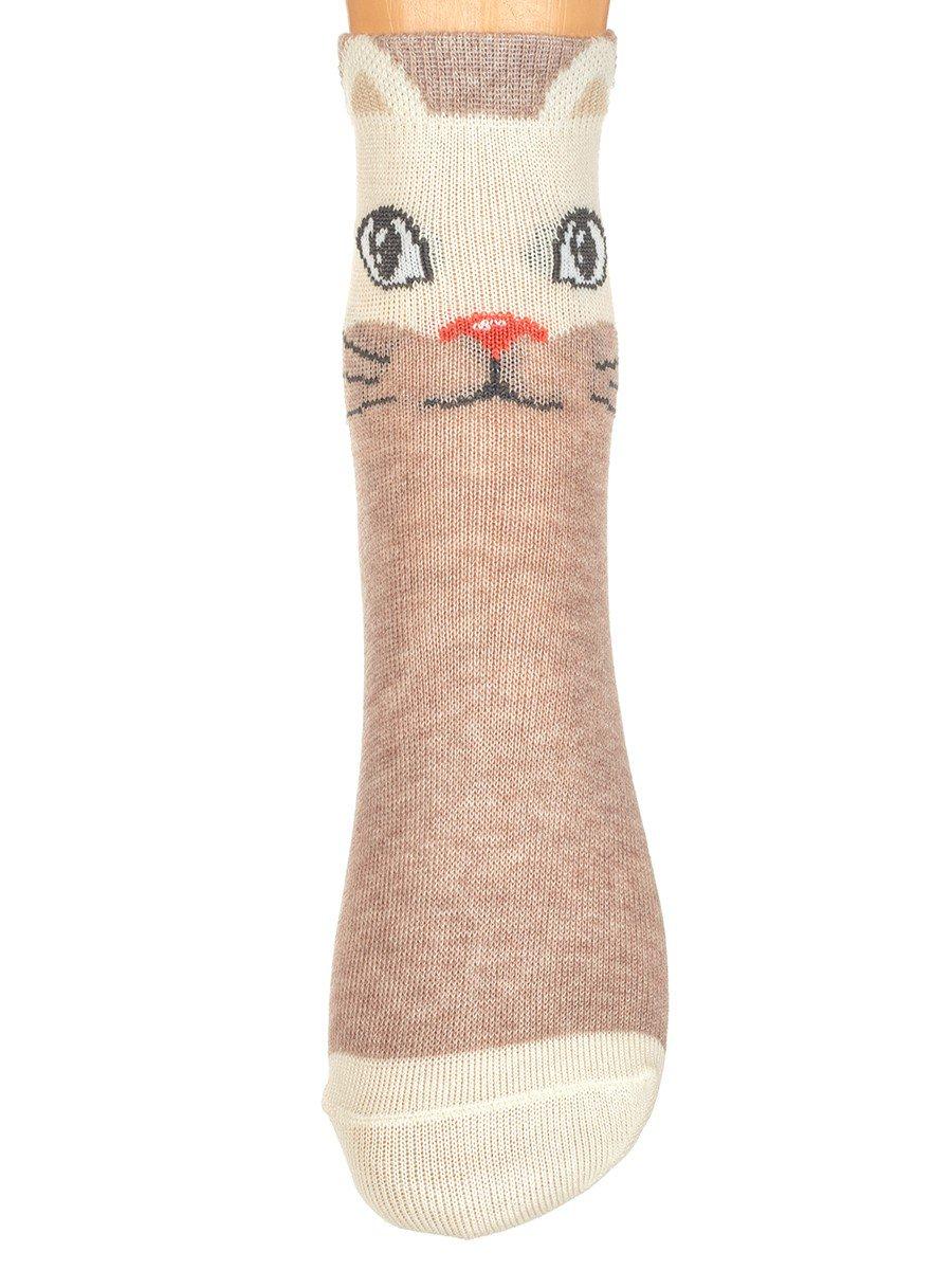Демисезонные носки, с ярким крупным рисунком в верхней части изделия