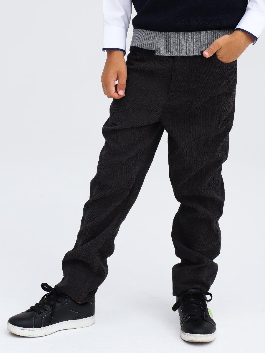 Брюки чиносы со средней посадкой для мальчика, цвет: темно-серый