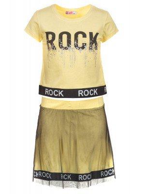 Комплект для девочки: футболка и юбка с сеткой