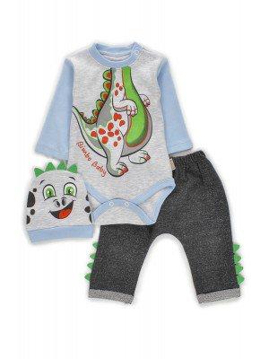 Комплект для мальчика: боди, штанишки и шапочка