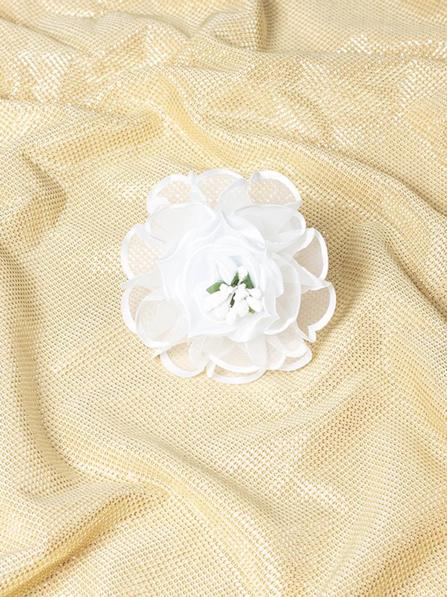 Бант-резинка 7см, цвет: белый
