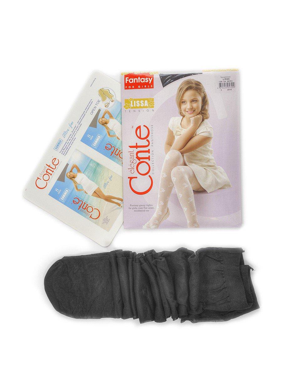 Колготки для девочки полиамидные LISSA, цвет: черный