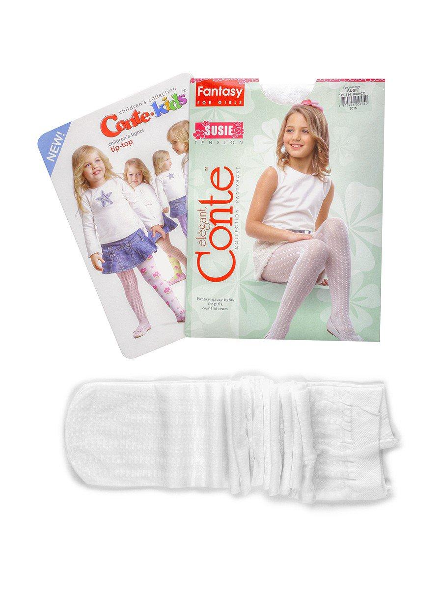 Колготки для девочки полиамидные SUSIE, цвет: белый
