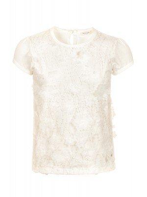 Блузка для девочки отделка сетка с аппликацией