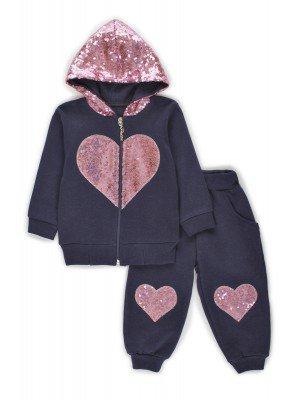 Комплект для девочки: толстовка и штанишки отделка пайетки