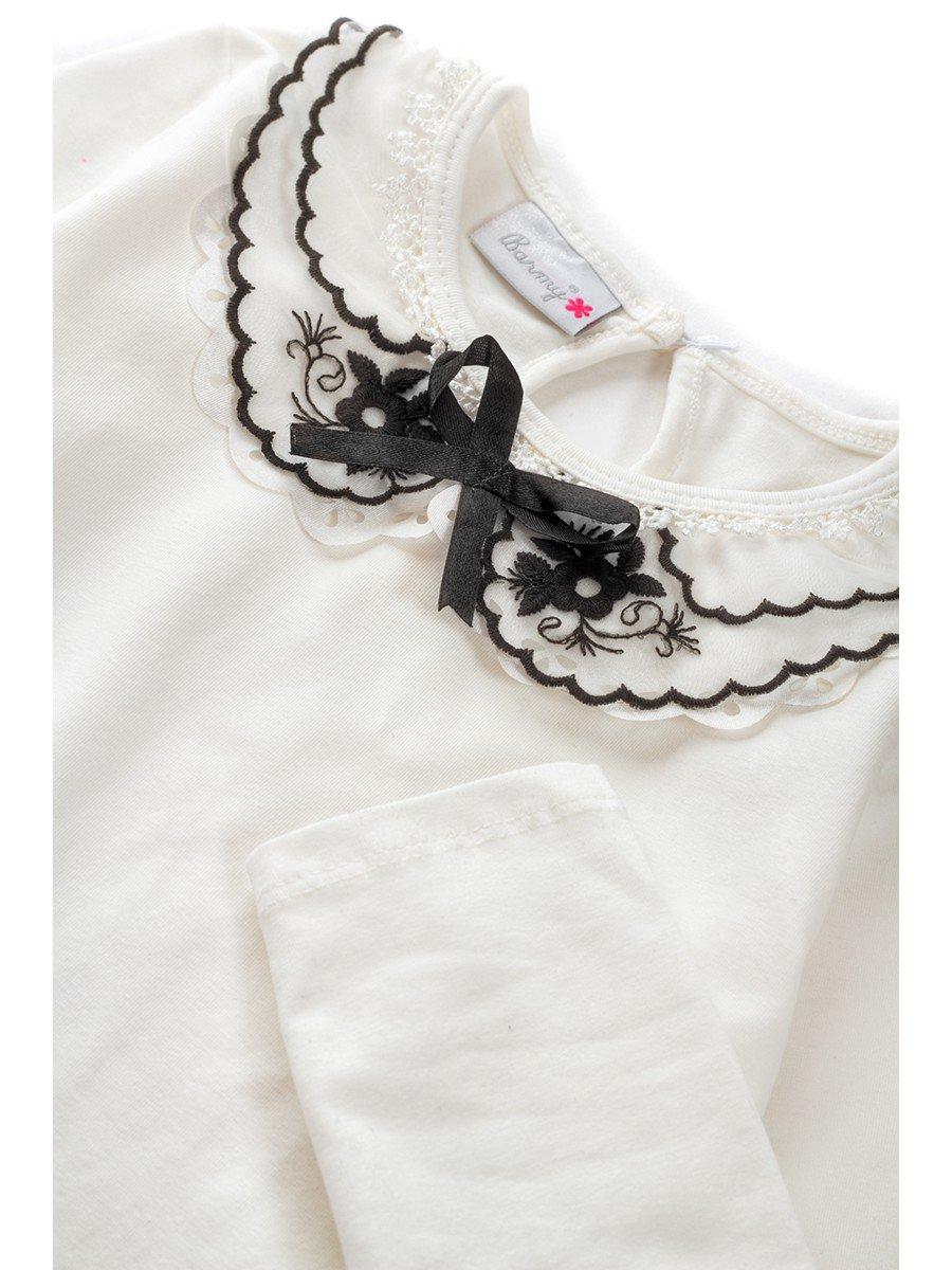 Блузка для девочки, цвет: молочный