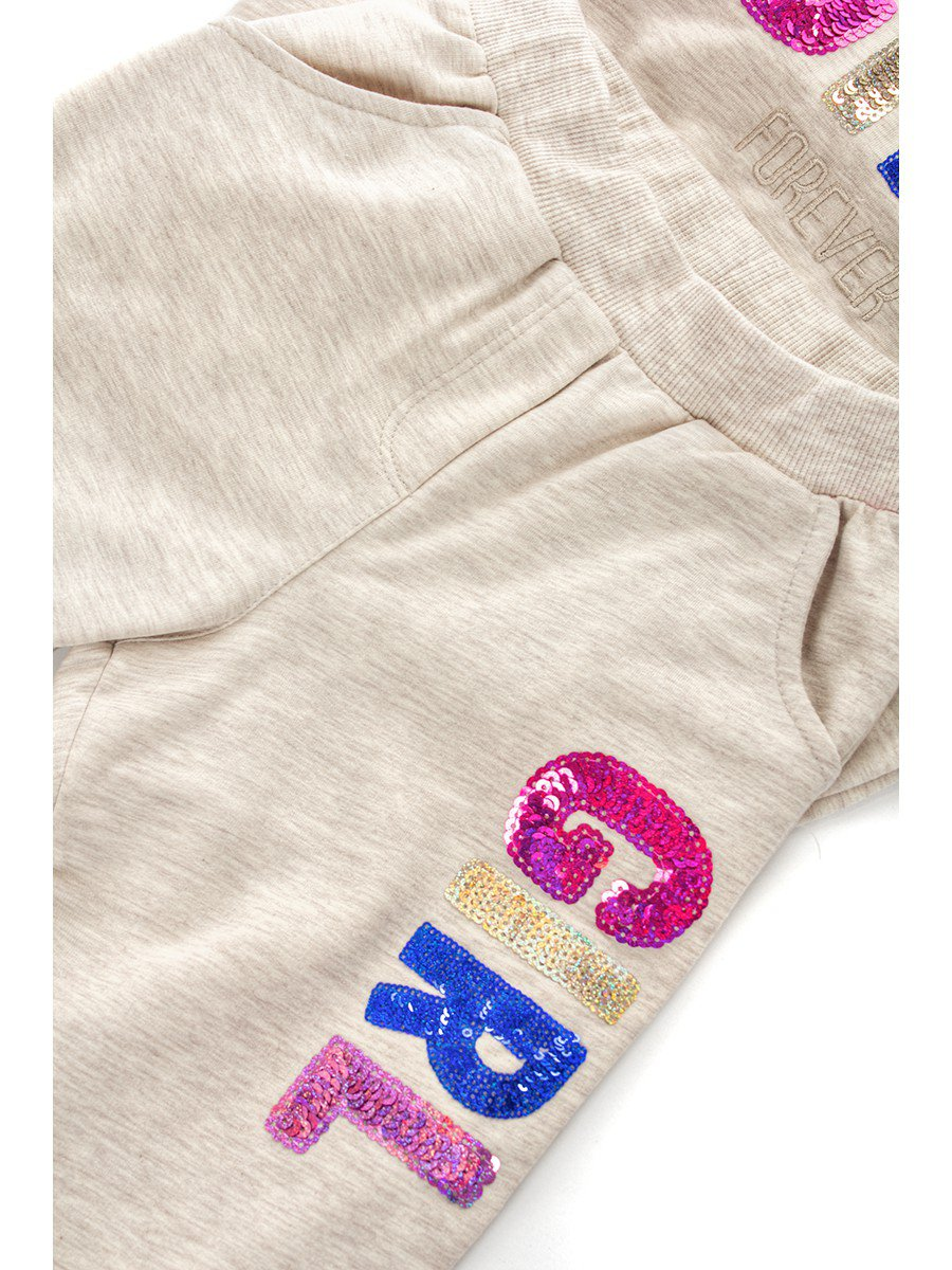 Комплект: толстовка и штанишки, цвет: светло-серый