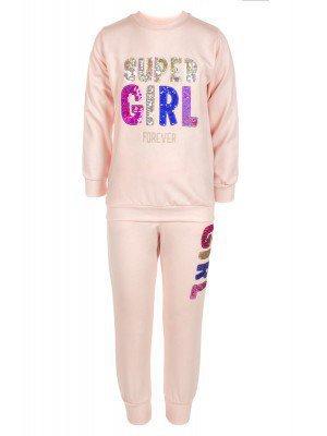 Комплект для девочки: толстовка и штанишки , отделка пайетки