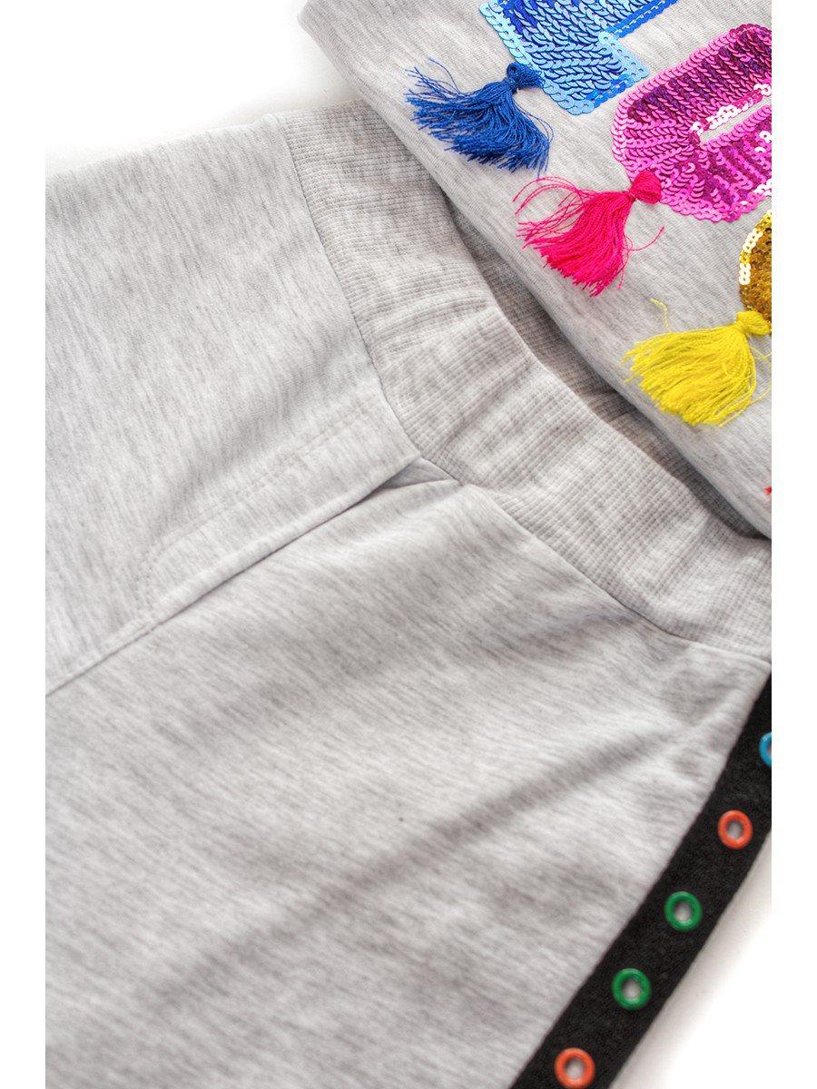 Комплект: толстовка и штанишки, цвет: серый меланж