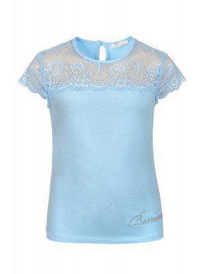 Блузка для девочки отделка гипюр