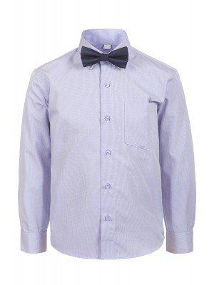 Рубашка для мальчика с бабочкой приталенного силуэта