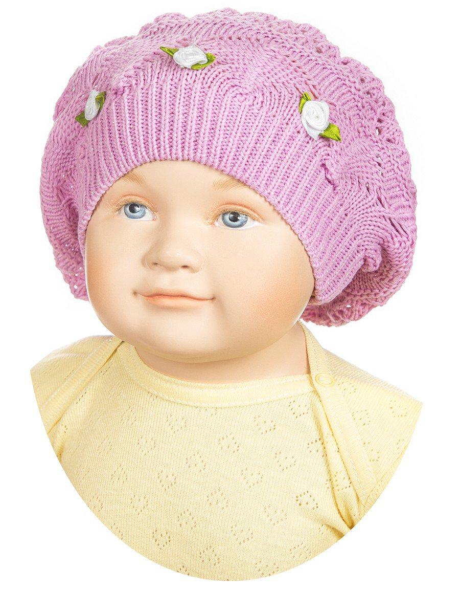 Берет для девочки «Розалия», цвет: розовый