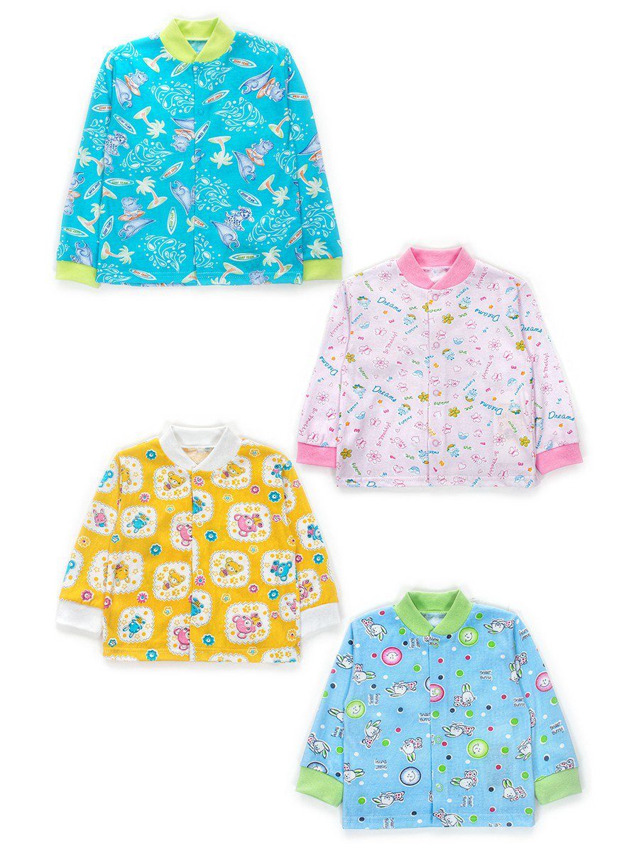 Кофточка детская, кулир, набивка, цвет: мультиколор