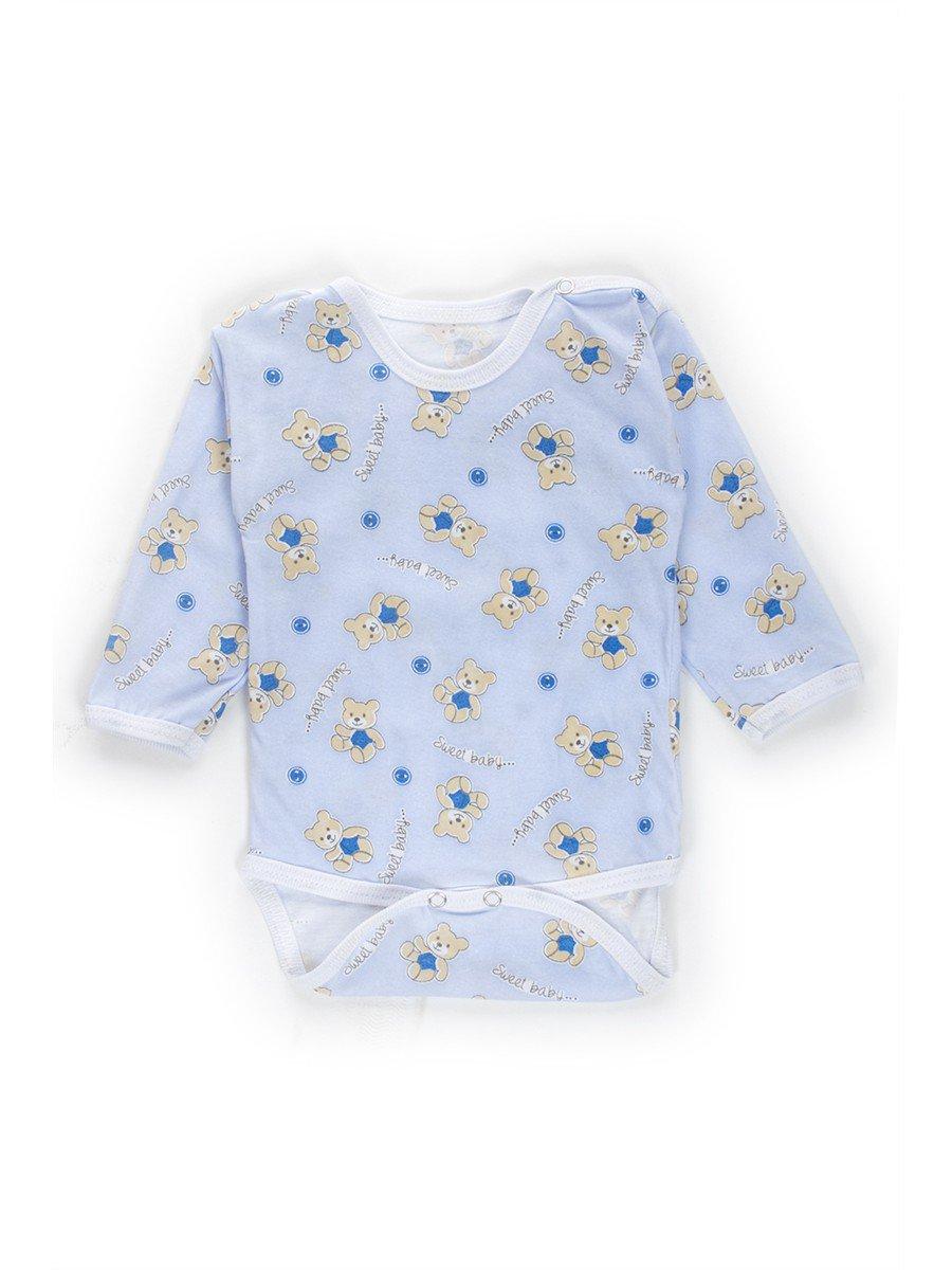 Боди детское, кулирка, цвет: голубой