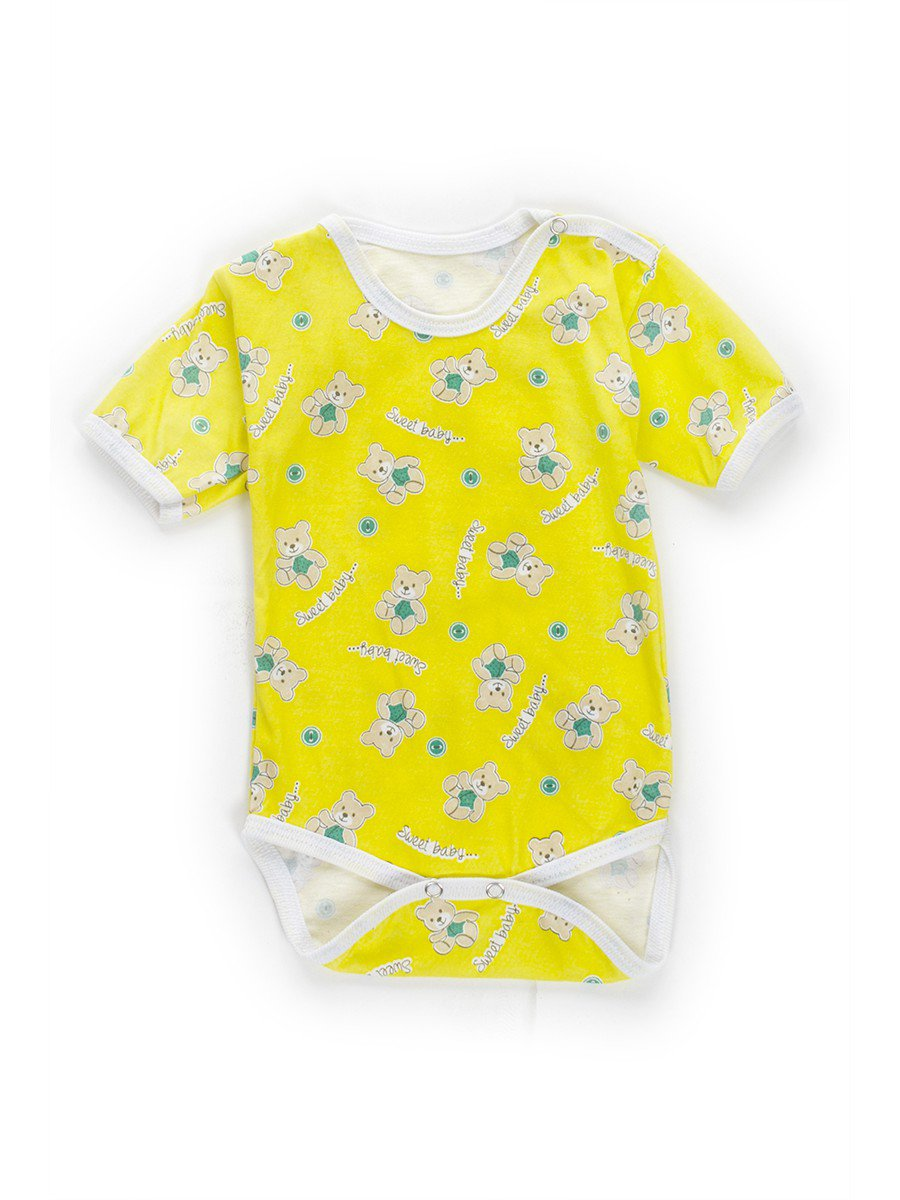 Боди детское, кулирка, цвет: желтый