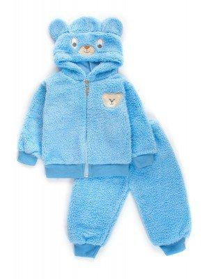 Комплект махровый детский: штанишки и кофточка