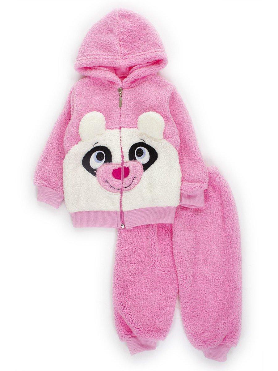 Комплект махровый детский: штанишки и кофточка, цвет: розовый