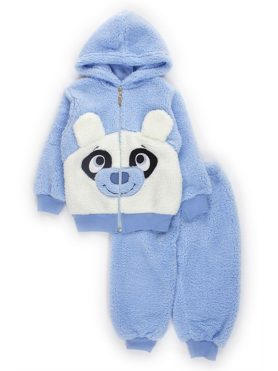 Комплект махровый детский: штанишки и кофточка, цвет: голубой