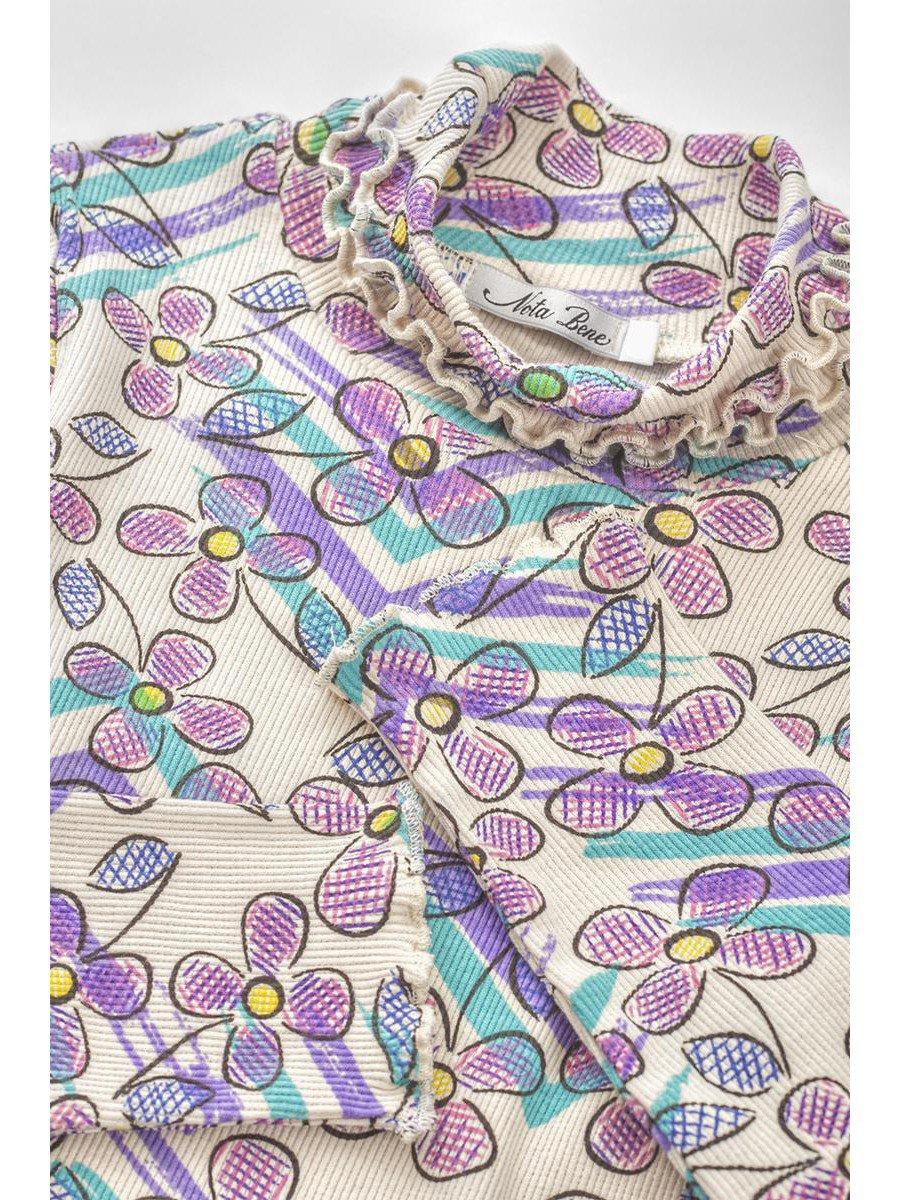 Водолазка для девочки из кашкорсе, цвет: мультиколор