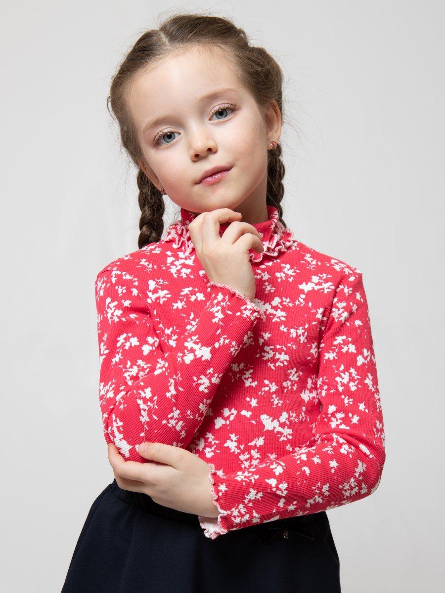 Водолазка для девочки, цвет: малиновый
