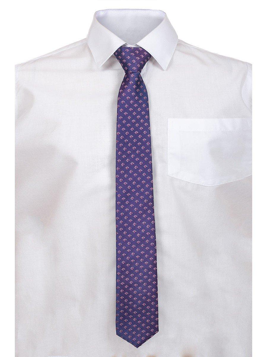Галстук для мальчика, цвет: фиолетовый