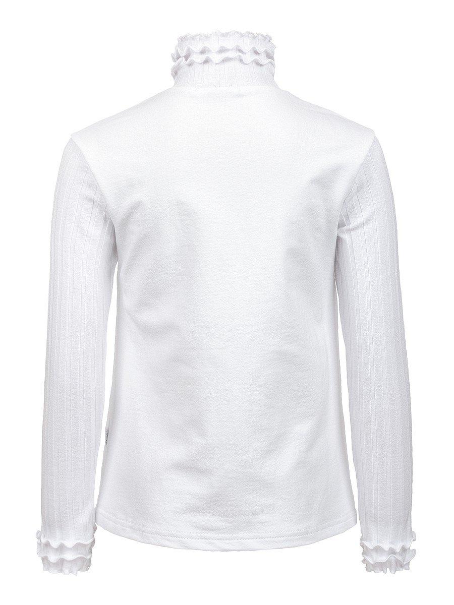 Водолазка, из футера 2-хнитки и вязанного полотна, цвет: белый