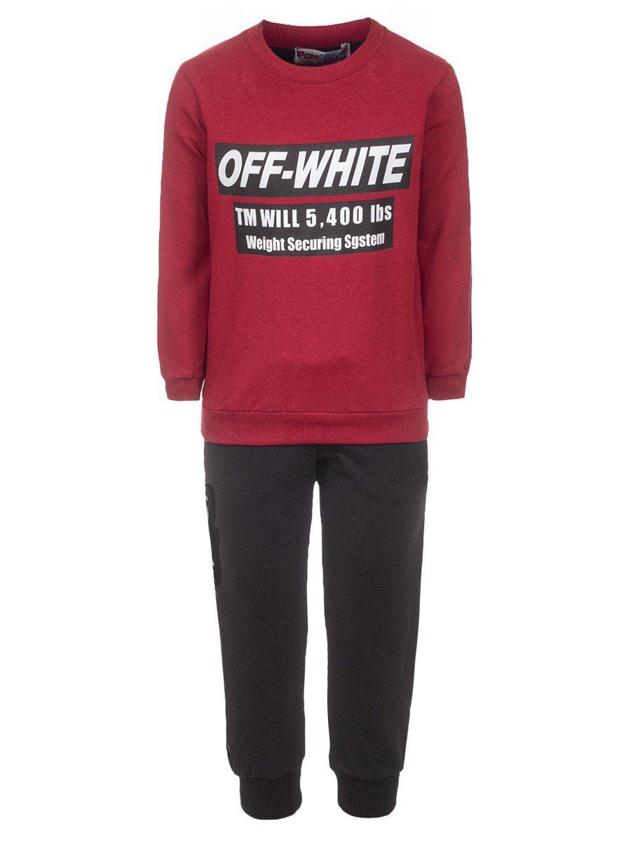 Комплект для мальчика: толстовка и штанишки, цвет: бордовый