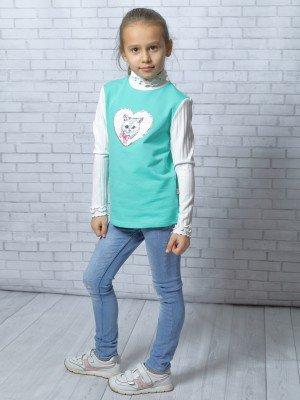 Джемпер-водолазка для девочки