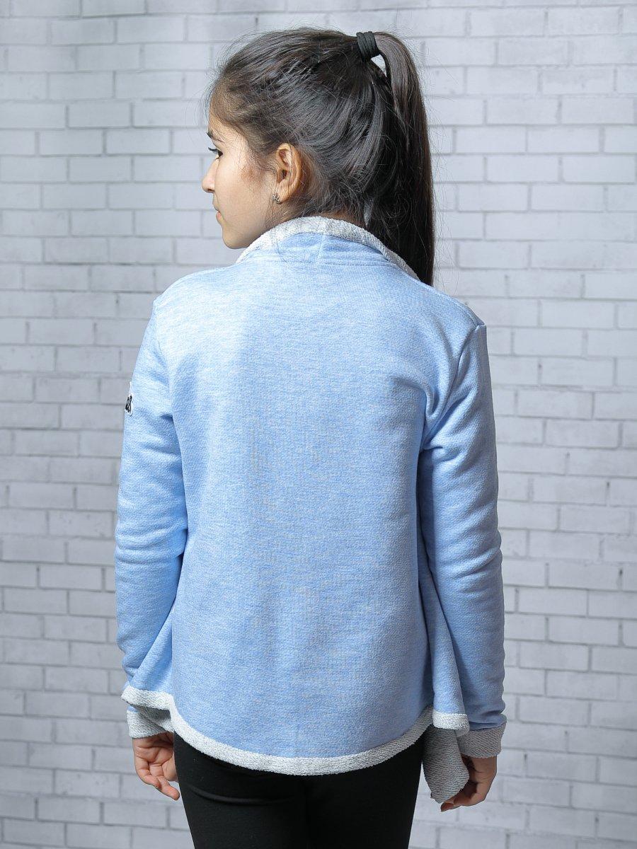 Кардиган прямого силуэта для девочки, цвет: голубой